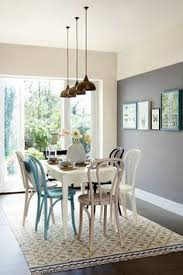How To Decorate Your Dining Room Table Decorating With White Grey Feature Wall Big Clocks And Clocks
