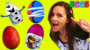 Disney Easter Egg Decorating Kit by Coloring Easter Eggs Shaving Cream Egg Dyeing Disney Frozen 2015