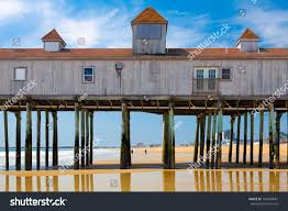 old orchard beach maine historic wooden stock photo 106409681