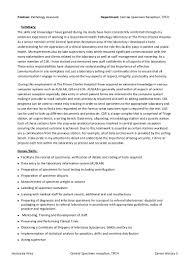 executive summary resume example csr pathology assistant job description