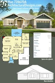 small one level house plans one level luxury craftsman home 36034dk architectural designs