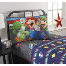 Mario Bedding Set Mario Trifecta Sheet Set Walmart