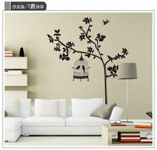 compare prices on tree wall sticker online shopping buy low price black birds tree wall stickers for tv sofa background living room wall decoration stickers tree wall