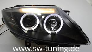 angel eye scheinwerfer für bmw z4 e85 led ringe black sw tuning