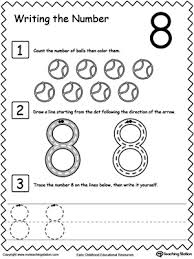 learn to count and write number 8 number 8 learn to count and