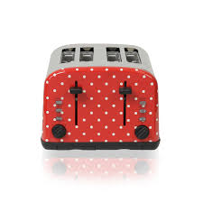 Toaster Ideas George Home 4 Slice Toaster Polka Dot Toasters Asda Direct