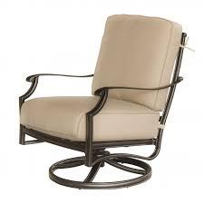 Sunbrella Rocking Chair Cushions Carondelet 5 Piece Cast Aluminum Patio Conversation Set W Swivel