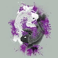 yin yang koi fish with purple splatter stuff to buy