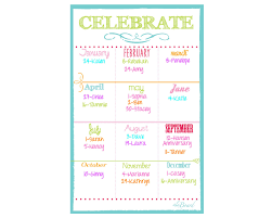 birthday announcements family birthday calendar family birthday fridge calendar