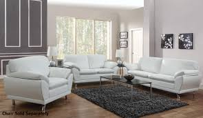 Leather Livingroom Set Robyn White Leather Sofa And Loveseat Set Steal A Sofa Furniture