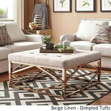 overstock ottoman coffee table gold ottoman coffee table thewkndedit com