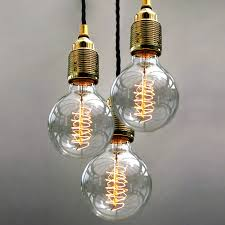 Ceiling Pendant Lights by Set Of Three Bulb Pendant Lights Pendant Lighting Bulbs And Globe