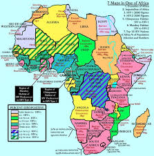 map with names of countries in africa africa map