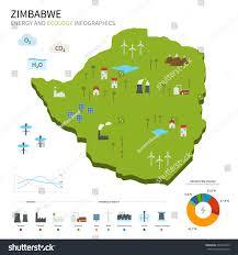 Zimbabwe Map Energy Industry Ecology Zimbabwe Map Power Stock Illustration