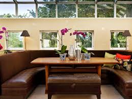 dining room with banquette seating 12 ways to make a banquette work in your kitchen hgtv s decorating
