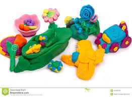 kids crafts made of modeling clay stock photo image 42443630