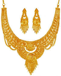 jewellery necklace earring sets images 22 karat gold necklace set ajns63770 22 karat gold necklace jpg
