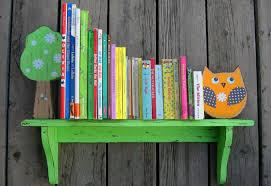 Kids Bookshelves by Birch Tree Kids Bookshelves Feature Sweet Woodland Creatures In