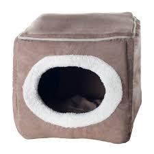 Hooded Dog Bed Paw Pet Box Hooded Dog House U0026 Reviews Wayfair