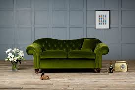 old bessie velvet fabric chesterfield sofa