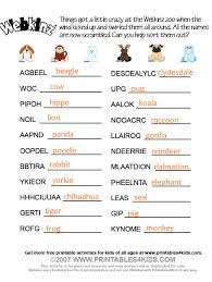 webkinz word scramble answers printables for free word