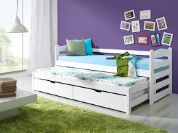 WHITE CHARLIE Bunk Bed WOODEN CAPTAINS BED WITH MATTRESSES AND - Under bunk bed storage drawers