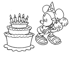 printable birthday cake coloring pages coloring home