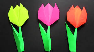 Youtubephotos by Origami Tulip Flower Easy Origami Tulip Flower Instructions