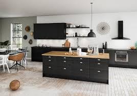 plan de travail bois cuisine cuisine blanche et plan de travail bois mineral bio