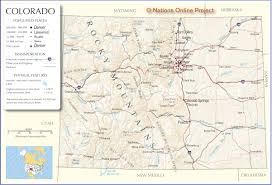 Colorado Counties Map Map Of Colorado State My Blog