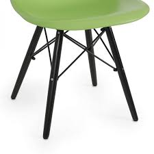Molded Plastic Outdoor Chairs by 2x Eames Chair Green Natural Wood Legs Eiffel Dsw For Dining Room