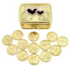 arras boda wedding unity coin set arras de boda heart chest box