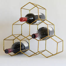 gold honeycomb wine rack 48 things for the home pinterest