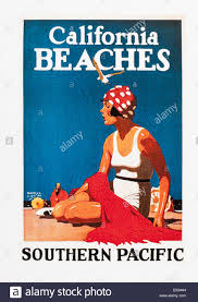 California how to travel for free images Vintage travel poster advertising california beaches editorial jpg