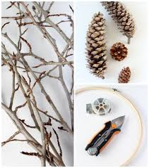 wreath supplies woodland wreath made with twigs and pine cones satori design for