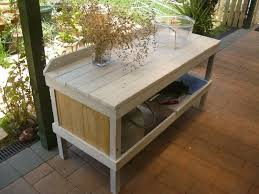 Patio Pallet Furniture Plans by Outdoor Pallet Cooking Table U2022 1001 Pallets