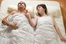 overhead view of couple in bed stock photo picture and royalty