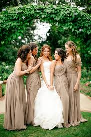 fall bridesmaid dresses neutral fall wedding color ideas link