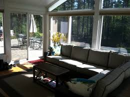 Sunroom Sofa Winsome Sunroom Furniture Come With L Shaped Black Stained Rattan