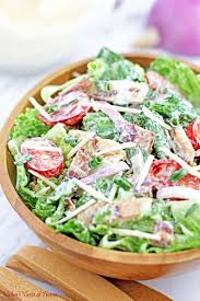 best salad recipes mom s best blt caesar salad recipe valya s taste of home