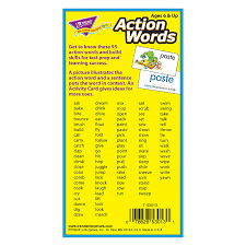 amazon com action words skill drill flash cards pack of 96 card
