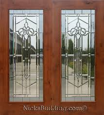 knotty alder real wood patio doors with mystic glass