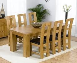 Oak Dining Room Table And 6 Chairs 20 Photos Oak Dining Tables With 6 Chairs Dining Room Ideas