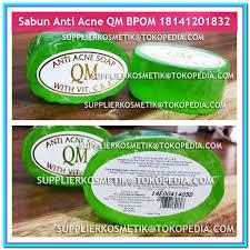 Sabun Qm pembersih kulit wajah sabun anti acne qm aman sudah bpom elevenia