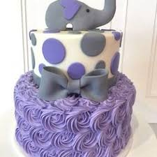 purple elephant baby shower rosette cake my sweet austin www