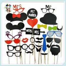 diy photo booth props christmas party fake moustaches on stick hpc