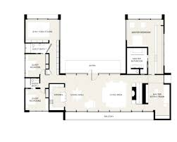 U Shaped Home With Unique Floor Plan U Shaped Home Plans Evolveyourimage