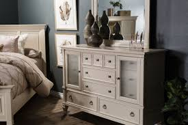 Ashby Bedroom Furniture Two Traditional Dresser And Mirror In White Mathis