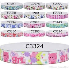 not mixed 9 16 22 25 38 50 75mm carton printed grosgrain ribbons