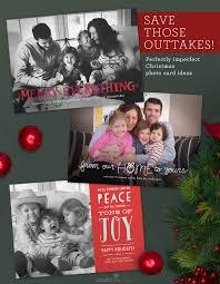 photo christmas card ideas save those outtakes perfectly imperfect christmas photo card ideas